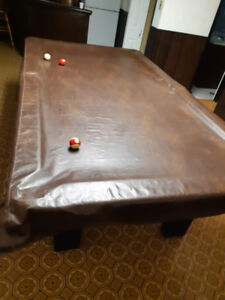 DUFFERIN  POOL TABLE INSTALLED WITH ACCESSORIES