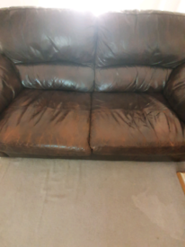 HURRY! GONE BY FRIDAY 18th June Leather Sofa SCS RRP £600 Bargain!!!