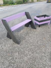 Garden Bench + Planter.
