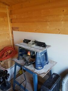 router/table/extensions table/cabinet with bits