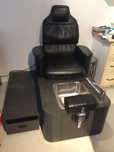 Used Pedicure Chair and matching storage Box