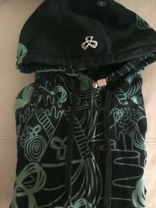 TNA Women's Hoodie, black + green, great condition, size large