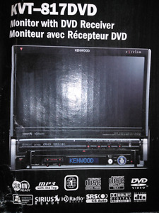 Complete car stereo system and touch screen flip up dvd and moni