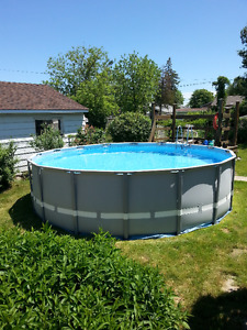 "16ft x 48"" Pool with Salt Water Pump"