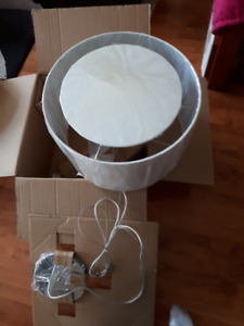New 20 in. Finley White Lamp Shade