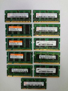 21 Computer Memory Chips (Various capacities & Brands)
