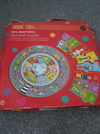Well loved puzzle - alphabet. Circle. Rare.