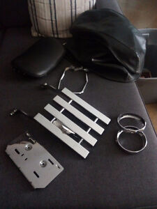 ,Luggage Rack , Mounting bracket and two passing light rings.