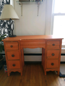 Antique, refurbished writing desk.