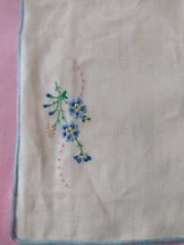 Unused Vintage Embroidered Irish Linen Dresser Cloth in original box!!