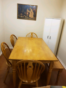Solid maple kitchen table  $450 obo