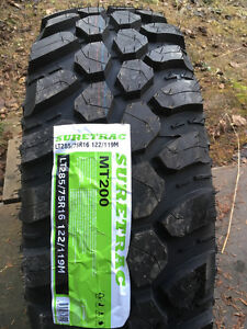 New LT tires in various sizes.