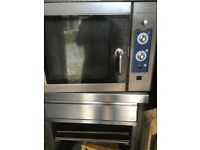 Hobart commercial oven with stand