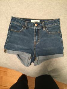 Pacsun Dark Wash High Waisted Denim Shorts