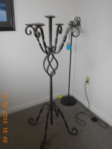 Wrought-Iron Vintage Candelabra - Tall, Large and Free-Standing