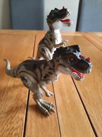 Interactive roaring dinosaur