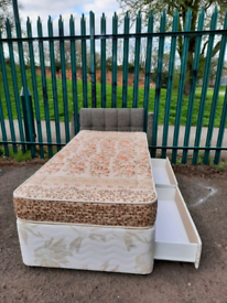 Single bed + mattress & drawers (delivery available