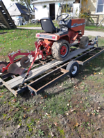 Fall garden plowing
