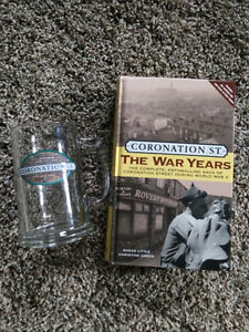 Coronation Street Glass Stein and Novel