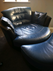 Large leather Cuddle chair / sofa