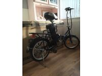 Electric folding pedal power assist bike unisex