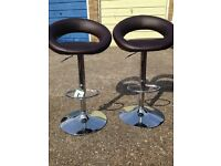 Faux leather bar stools