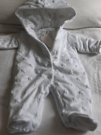 White Pram Suit Newborn Brand New