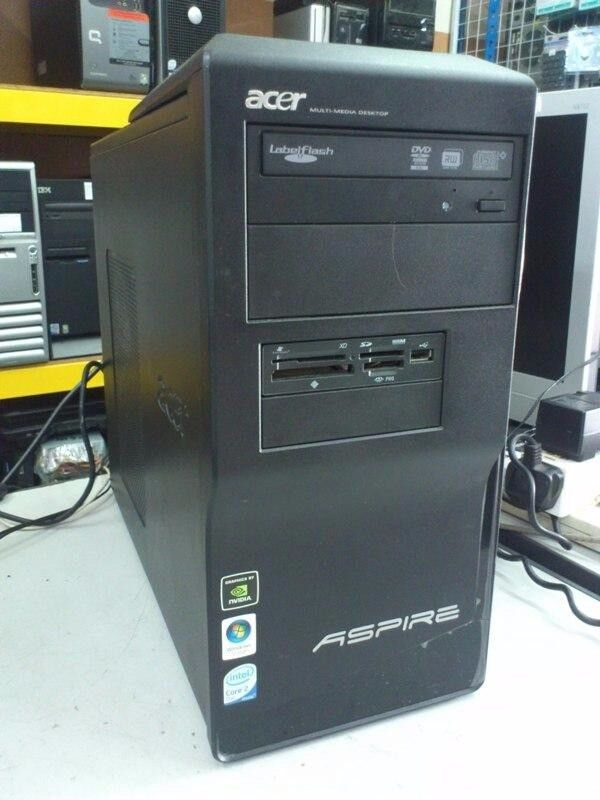 Acer M1640 DC WIN 7/OFFICE 2010 SOFTWARE Desktop PC COMPUTER WITH 500GB HARD DRIVE-2GB RAM,DVDRW