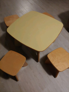 Designer Children's Table with Four Chairs