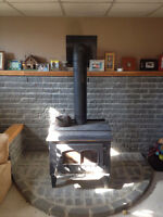 Large Wood Stove Glass Front