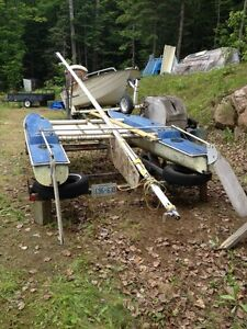 15ft Dingo catamaran on trailer