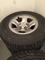 """Hankook winter tires on Dodge Ram 1500 17"""" Wheels with TPMs"""