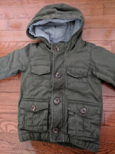 BACK TO SCHOOL Old Navy Army Green Bomber Jacket size 2T