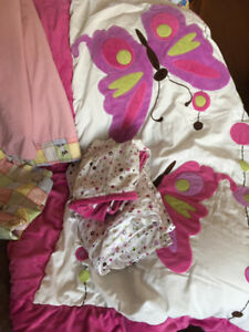 baby girl/toddler bedding and curtains