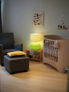 CRIB: TOP RATED 5 in 1 - Leander Cot  (crib to toddler bed)