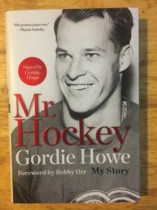 GORDIE HOWE Signed 'Mr. Hockey' 1st. Edition Book with COA