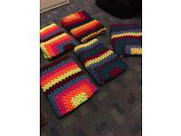 Crochet blanket.