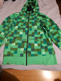 For Sale Minecraft Creeper Hoodie Age 11-12 Years