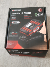 Drill battery and charger