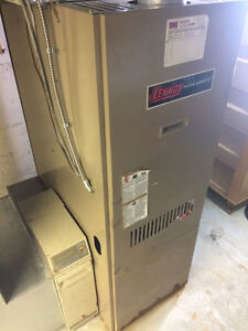 Forced Air Lennox Oil Furnace and Oil Tank
