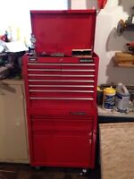 Machinists Tool box and tools