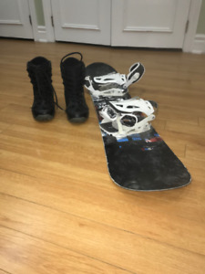 **  ONLY  $75   For BOTH **  Snowboard & Shoes - RIDE & ZUMA