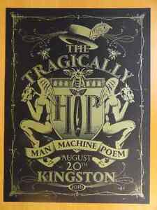 Tragically Hip Kingston Poster Limited Edition Silk Screen