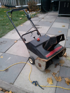 Single stage snowblower