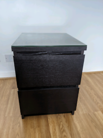 Bedside table - Ikea Malm. 2 drawer.