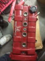 Red powder coated b18a valve cover.