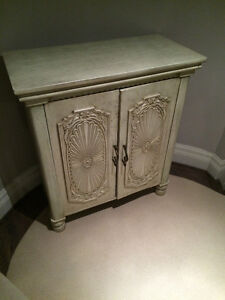 Antique french country handcarved off-white sideboard - MUST GO