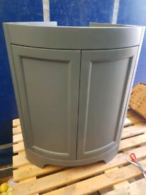 Beautiful very heavy gray corner basin unit