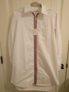 Thom Browne - Thigh Length Zip Front in Oxford (Never Worn)