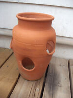 Extra Large Clay Herb or Flower Planter Pot
